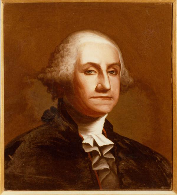 GEORGE WASHINGTON - after reverse painting on glass restoration