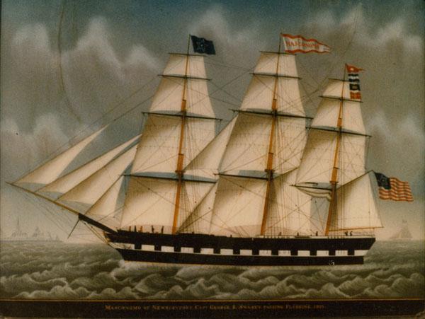 MASCONOMO OF NEWBURYPORT - after reverse painting on glass restoration