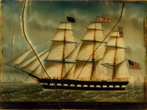 MASCONOMO OF NEWBURYPORT - before reverse painting on glass restoration